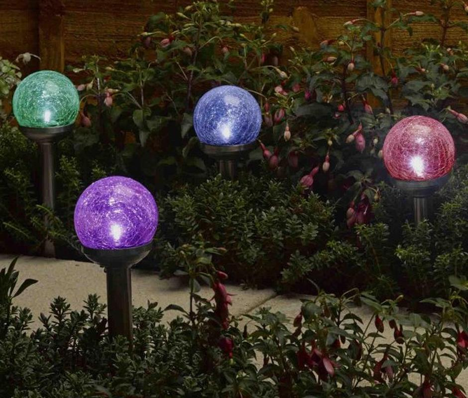 Rainbow Glass Stake Light -