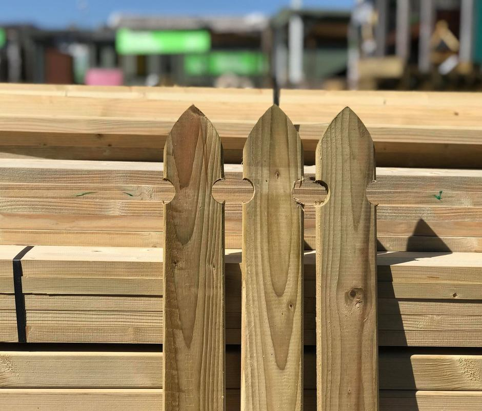 Gothic Top Fence Boards 69mm x 16mm x 0.75m -