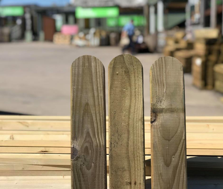 Round Top Fence Boards 95mm x 16mm x 0.9m -