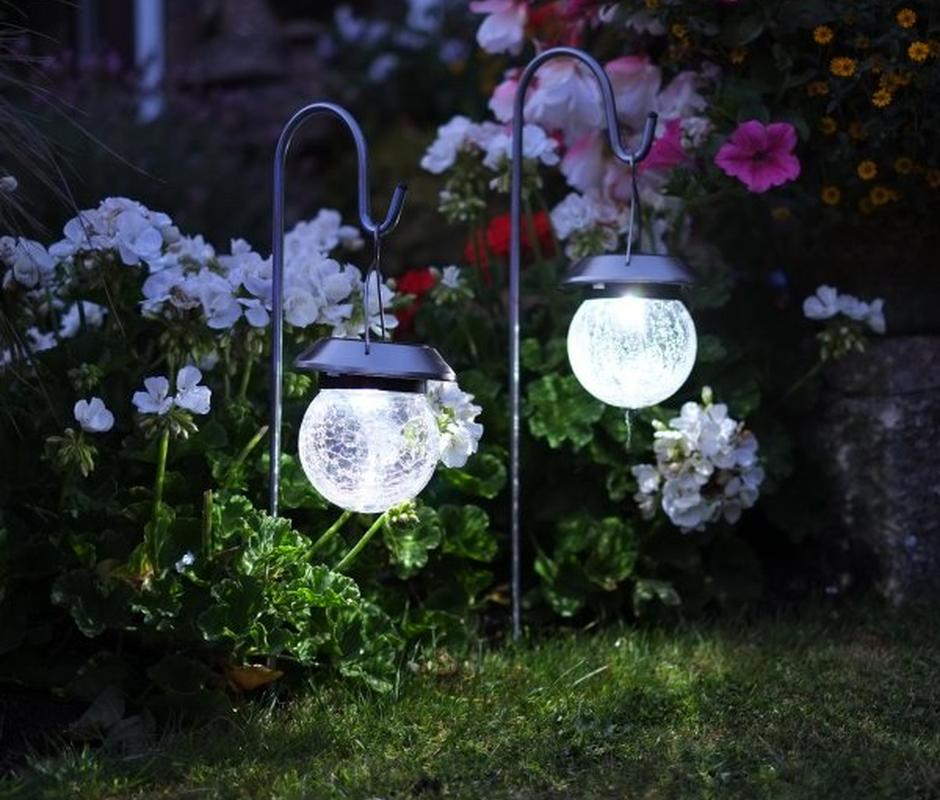 Crackle Globe Lantern (Double Pack) -