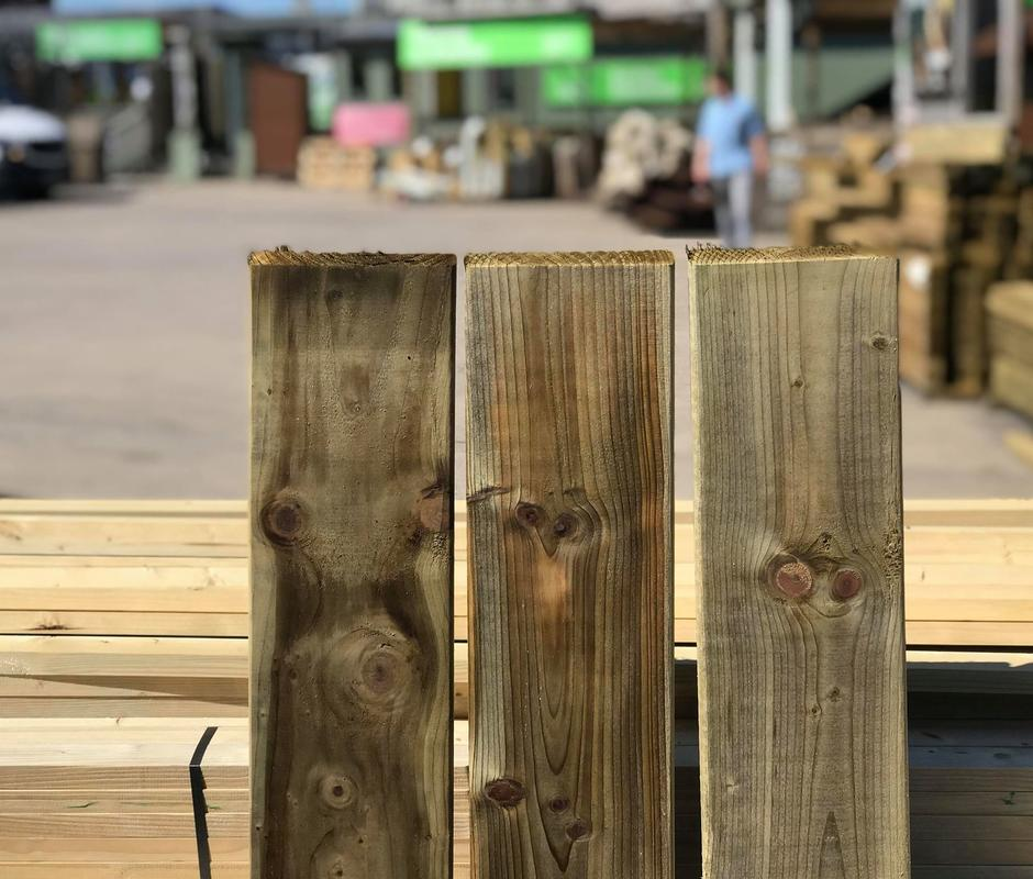 Weathered Top and Bottom Fence Boards 144mm x 20mm x 1.0m -